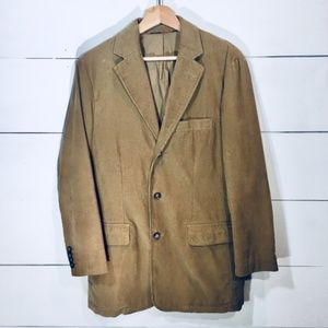 J CREW Men's SMALL Tan Vintage Corduroy Blazer EUC